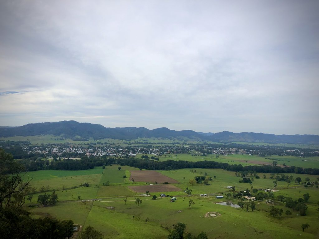 Scenic view from mountain